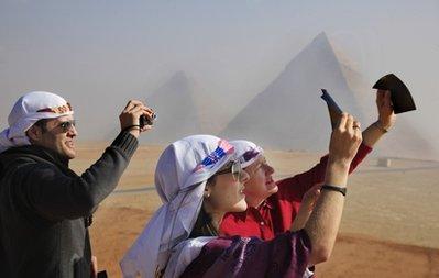 APTOPIX Mideast Egypt Solar eclipse